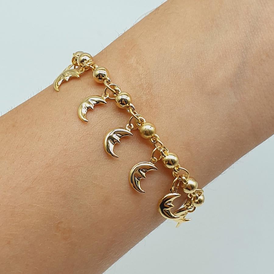 Pulseira Dourada Lua