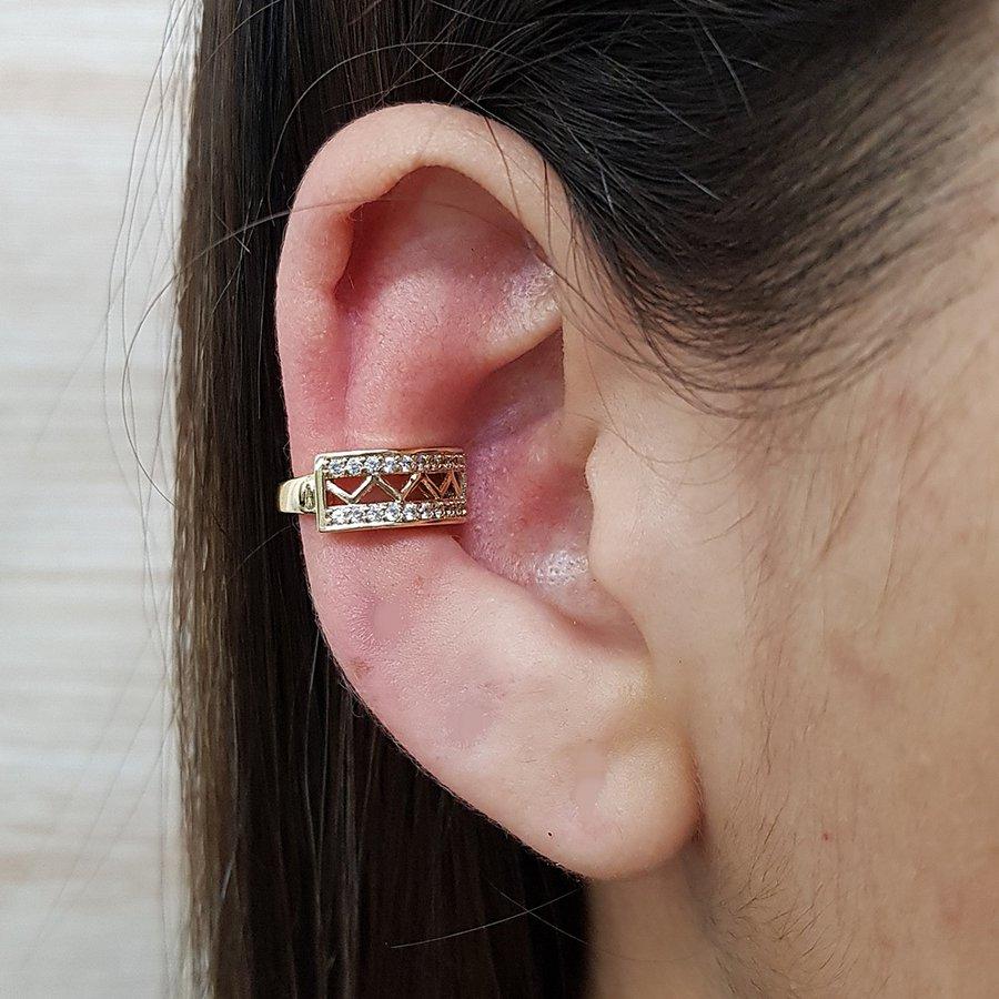 Piercing Fake Zircônia Dourado