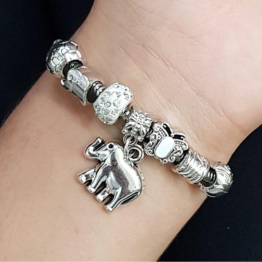 Pulseira Pandora Elefante Prata Branco