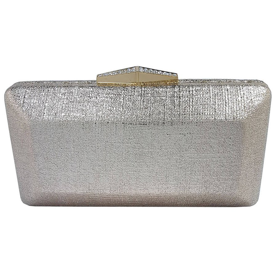 Bolsa Clutch Geométrica Dourada