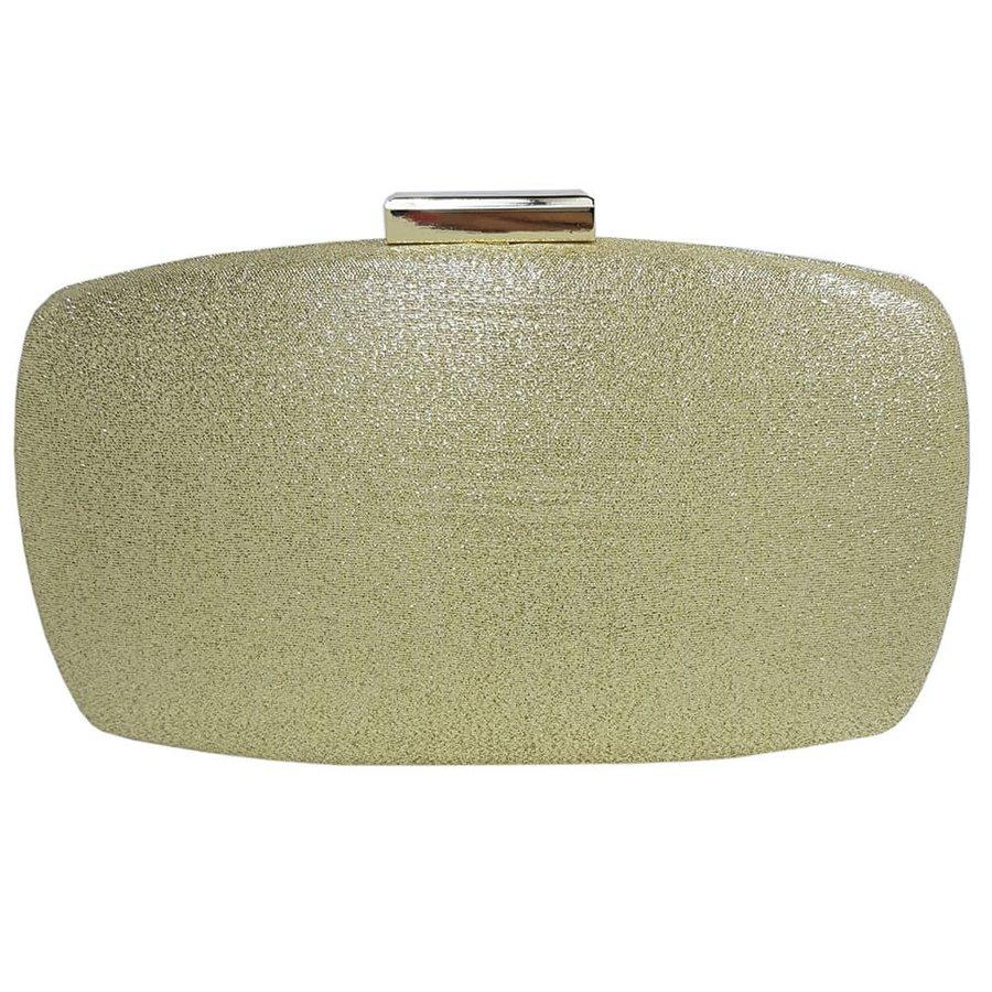 Bolsa Clutch Glitter Dourado Claro