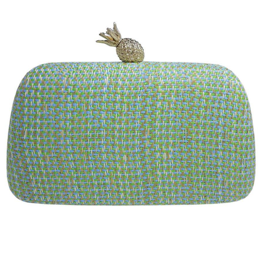 Bolsa Clutch Abacaxi Verde e Azul
