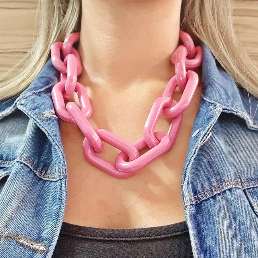 Colar Elos Pink