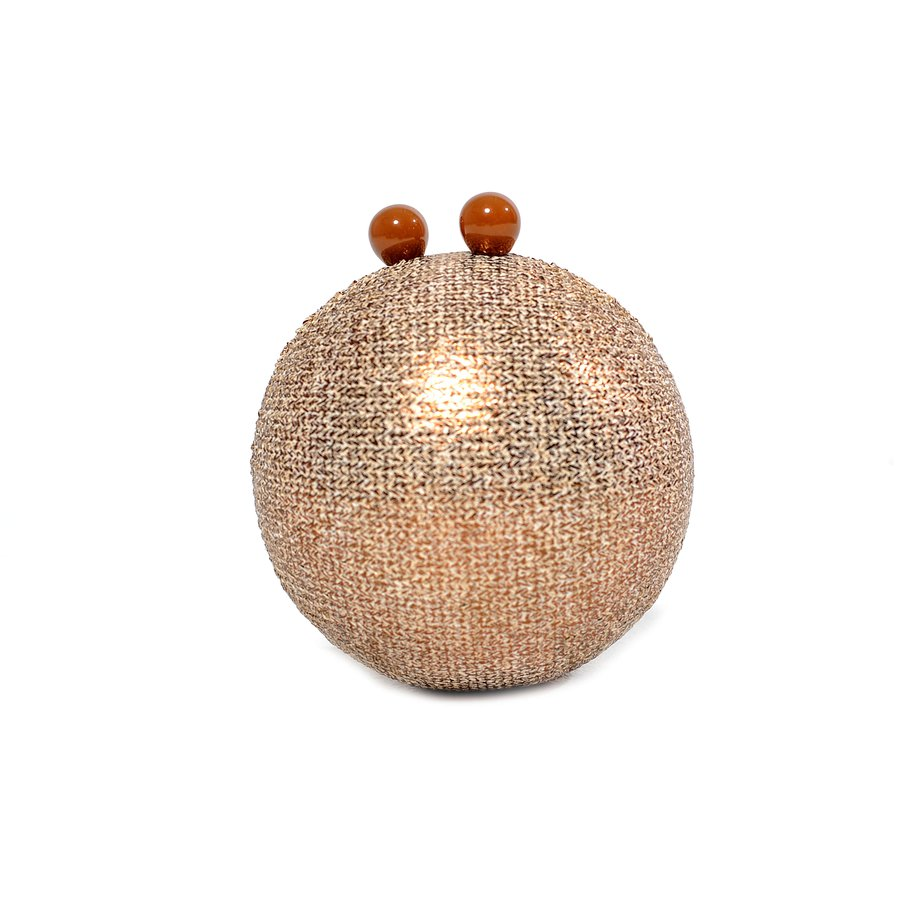 Bolsa Clutch Esfera Palha Dourada