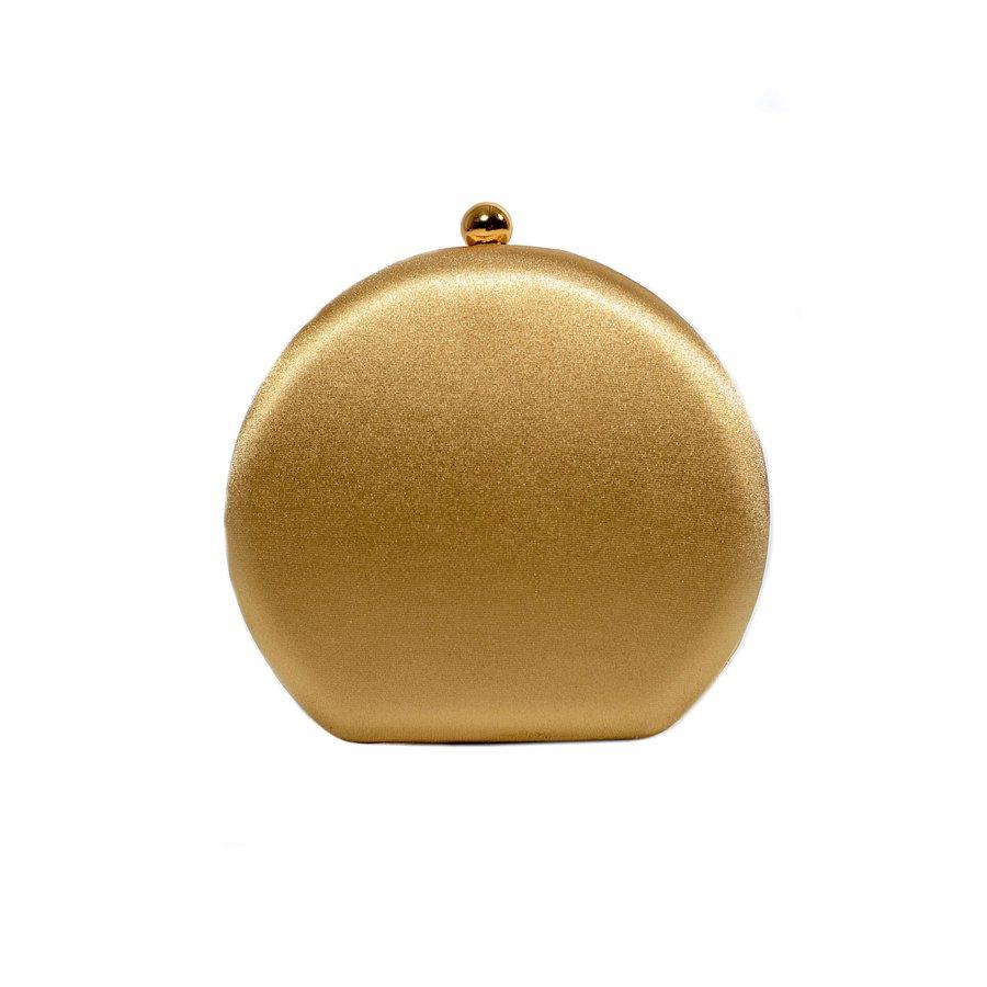 Bolsa Clutch Redonda Dourada