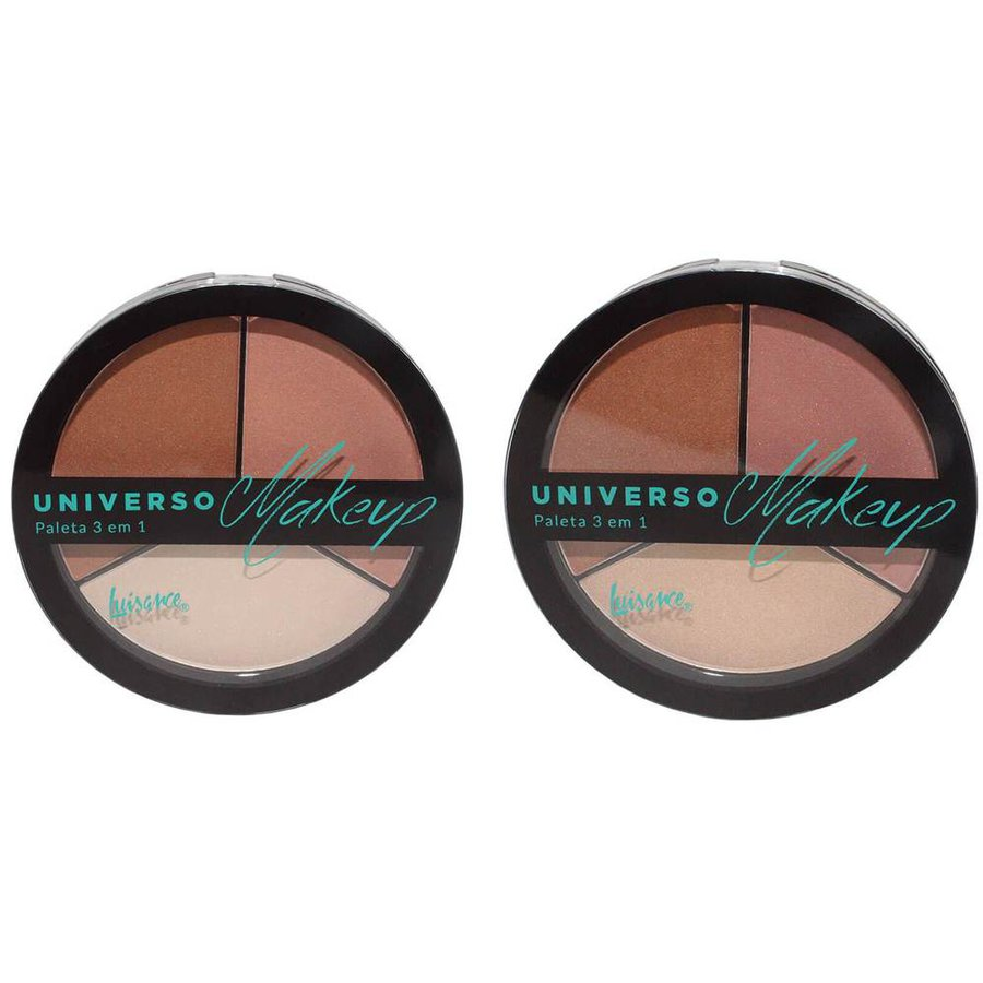 Kit 2 Unidades Paleta 3 em 1 Universo Makeup Luisance *