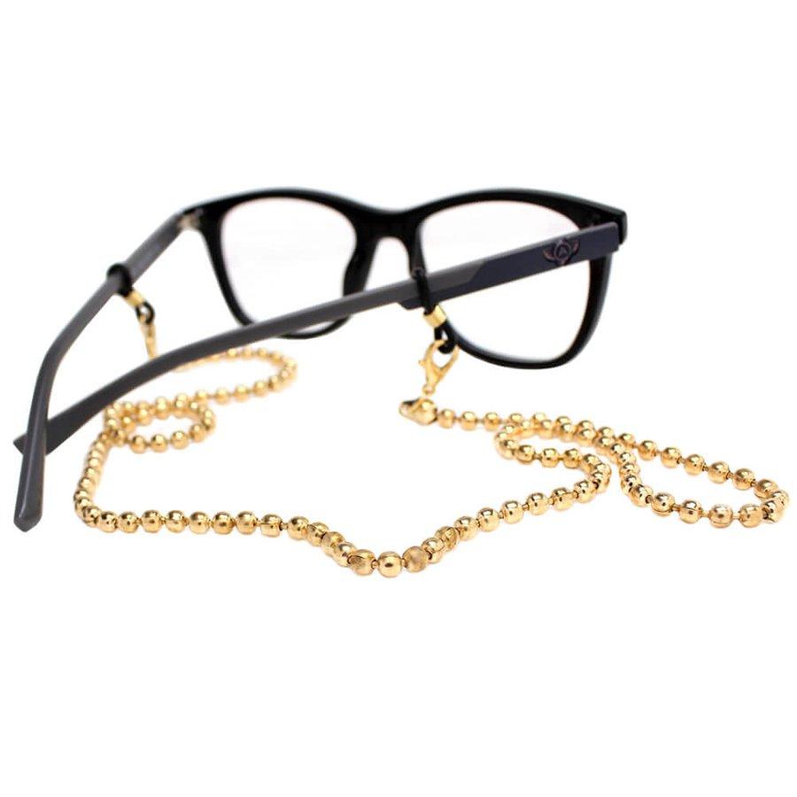Cordão para Óculos Correntinha Metal Dourado