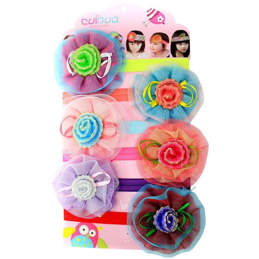 Cartela Headband Infatil Flor Botão