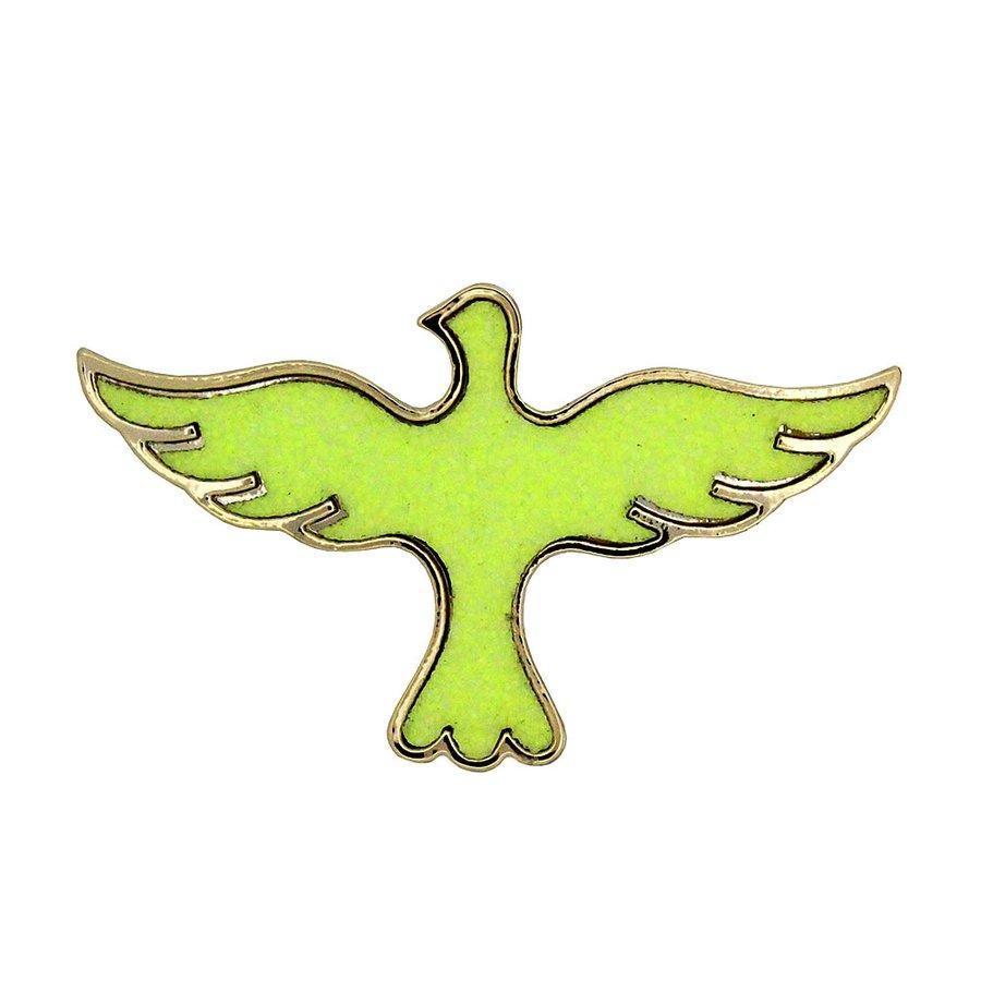 Anel Duplo Bird Verde *