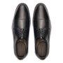 Sapato Masculino Social Derby Cap Toe Preto em Couro Legítimo
