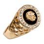 Anel Versace Ouro Aço Inox