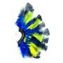 Brinco Penas Azul/Amarelo/Preto Regulável - 1 PEÇA (Não é o par)