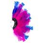 Brinco Penas Rosa/Azul Regulável - 1 PEÇA (Não é o par)