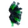 Brinco Penas Preto/Verde Regulável - 1 PEÇA (Não é o par)