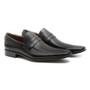 Sapato Masculino Social Loafer Basko Preto em Couro Legítimo