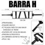 Barra H Profissional Crossfit Musculação - PRETA