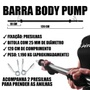 Kit Body Pump - Barra + 2 anilhas emborrachadas de 3, 2 e 1kg total 12kg