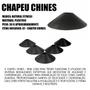 Kit Treino Agilidade - Chapéu Chinês Preto Mini Cone 10 Unid