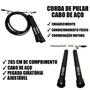 Corda de Pular de Cross Training Cabo de Aço Com Giro