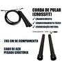 Corda de Pular de CrossFit Cabo de Aço Com Giro