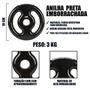 Anilha Emborrachada 3kg Revestida