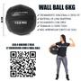 Suporte + Kit 4 Wall Balls 6kg Para Box Funcional