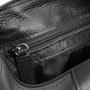 Necessaire Masculina em Nylon com Detalhe em Couro preto