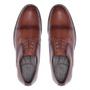 Sapato Masculino Derby Cap Toe Whisky Casual em Couro Legítimo