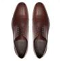 Sapato Masculino Derby Cap Toe Social Marrom em Couro Legítimo