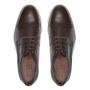Sapato Derby Brogue Casual Masculino Em Couro Brown