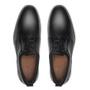 Sapato Derby Casual Masculino Em Couro E Neoprene Preto