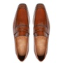 Sapato Masculino Penny Loafer Social Em Couro Whisky
