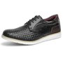 Sapato Casual Masculino Tramado Vêneto Derby Oxford Mr Light - 606 - Preto
