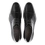 Sapato Masculino Derby Cap Toe Social Preto em Couro Legítimo