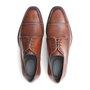 Sapato Masculino Derby Clássico Whisky em Couro Legítimo