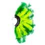 Brinco Penas Amarelo Neon/Verde Regulável - 1 PEÇA (Não é o par)