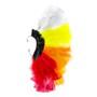 Brinco Penas Branco/Amarelo/Laranja/Vermelho Regulável - 1 PEÇA (Não é o par)