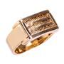 Anel Formatura Fios de Aço Semijoia Ouro