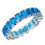 Anel Zircônia Azul Turquesa Semijoia 5 mm RB