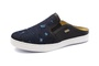 Sapato Mule Babuche Masculino Destroyed Jeans Paris Gshoes - 165-5 - Dark Blue