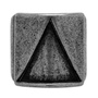 Anel Placa Triângulo Inoxidável Prata Velho
