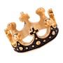 Anel Masculino Coroa Inoxidável Ouro