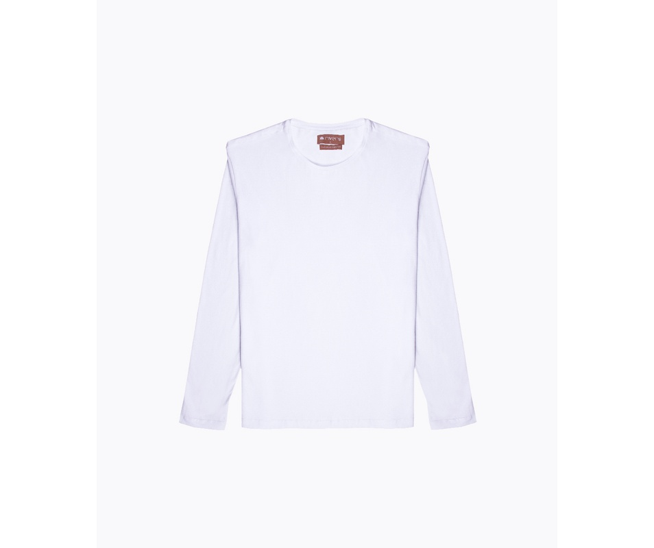 T-shirt Branca Manga Longa