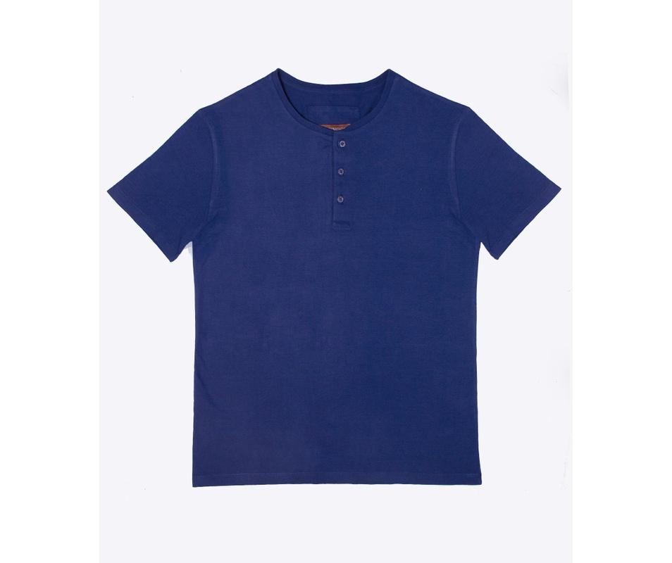 Henley Azul Marinho