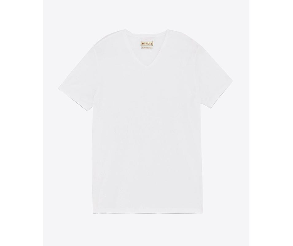 T-shirt Branca Gola V