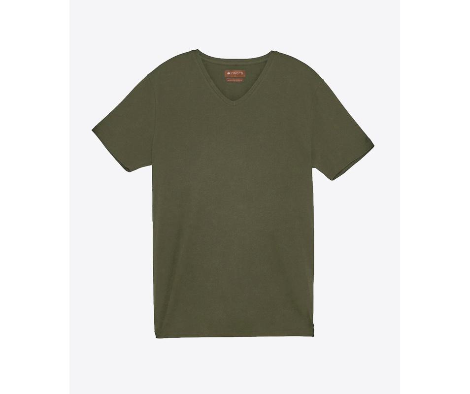 T-shirt Verde gola V