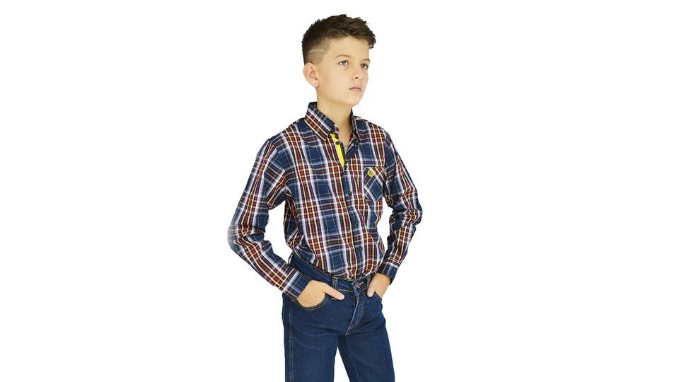 Camisa Manga Longa Xadrez Dock's Infantil