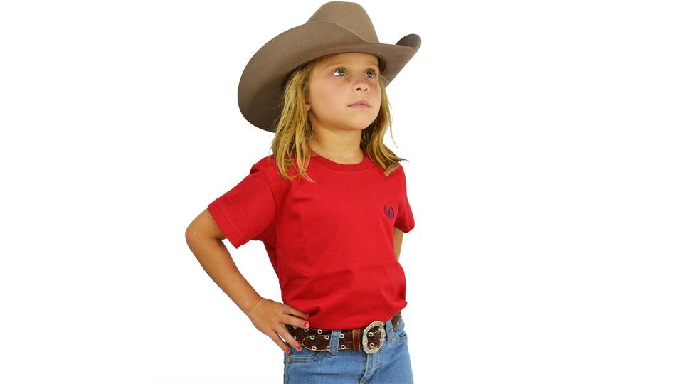 Camiseta Dock's Vermelho / Cereja Infantil