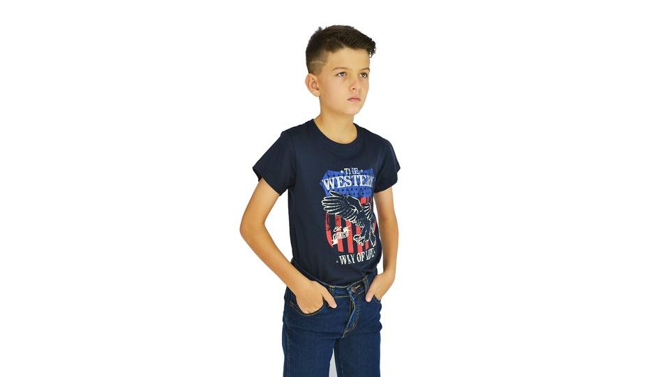 Camiseta Manga Curta Dock's Estampada Infantil