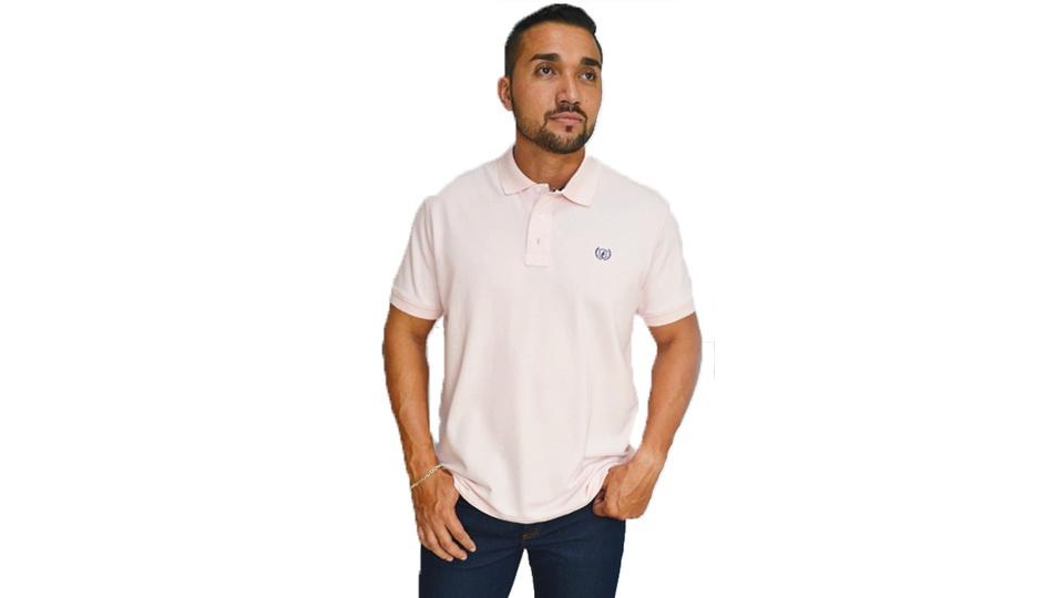 Camiseta Gola Polo Dock's Rosa Bebê